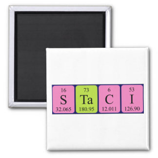 Staci periodic table name magnet