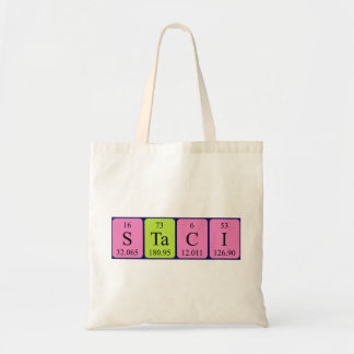 Staci periodic table name tote bag