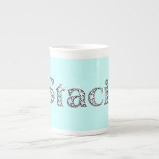 "Stacie ""Diamond Bling"" Bone China Mug"