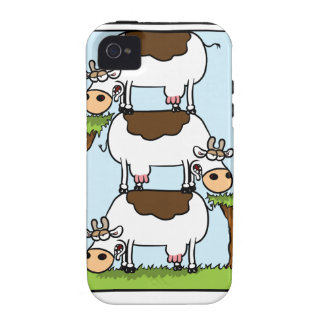 Stack o' Cows Vibe iPhone 4 Case