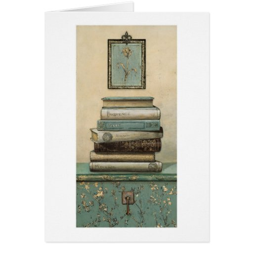 stack of books greeting card