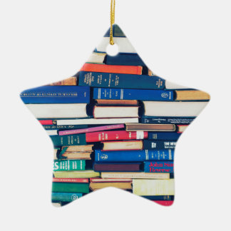 Stack of books christmas ornament