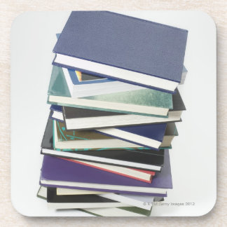 Stack of books coasters