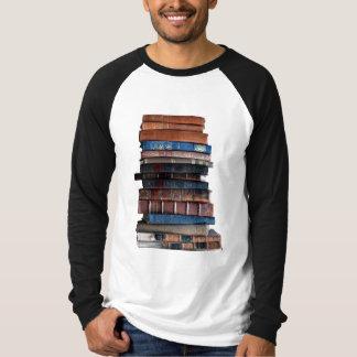 stack of books mens tshirt
