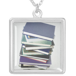 Stack of books custom necklace