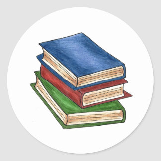 Stack of Books Read Library Book Teacher Stickers