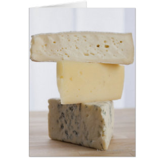 Stack of cheese greeting card