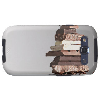 Stack of chocolate bars galaxy s3 case