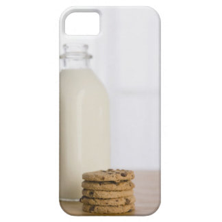 Stack of chocolate chip cookies milk in a glass barely there iPhone 5 case