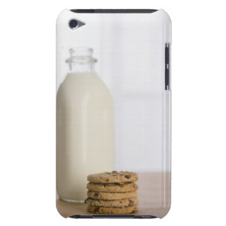 Stack of chocolate chip cookies milk in a glass iPod Case-Mate case