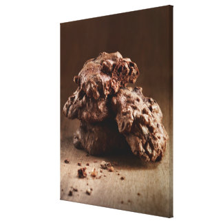 Stack of Chocolate Cookies Stretched Canvas Prints