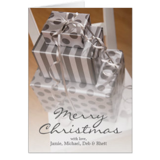 Stack of Christmas presents Greeting Card