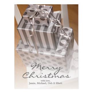 Stack of Christmas presents Postcard