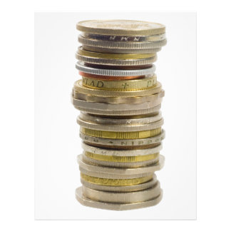 Stack of coins 21.5 cm x 28 cm flyer