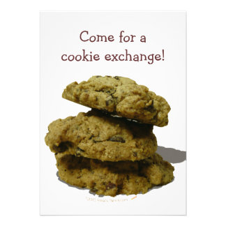 Stack of Cookies Cookie Exchange Party Template Custom Announcements