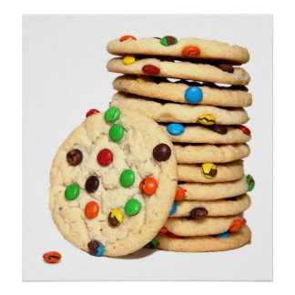 Stack of Cookies Poster