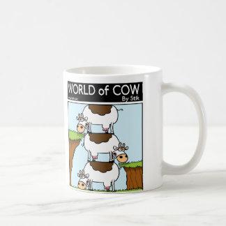Stack of Cows Basic White Mug