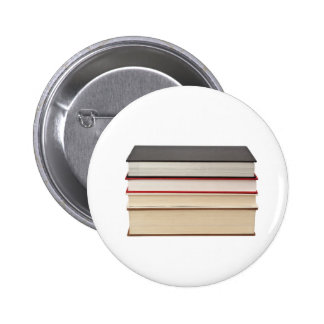 Stack of four books 6 cm round badge