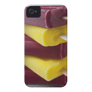 Stack of frozen ice pops, ice cream on a stick iPhone 4 covers