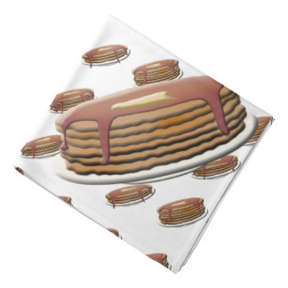 Stack of Pancakes on Plates Background Head Kerchiefs