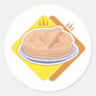 stack of pancakes round sticker