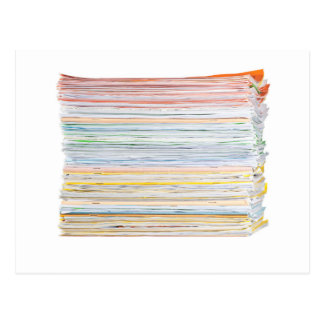 Stack of paper postcard