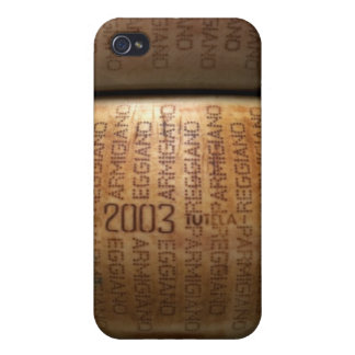 Stack of parmesan cheeses, close-up cover for iPhone 4