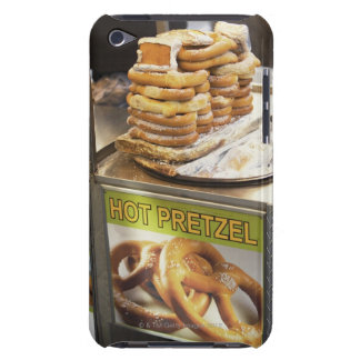 Stack of pretzels at a stall iPod touch cases