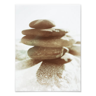 Stack Of Rocks, Zen Meditation Stacked Stones Photo Print