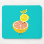 Stack of smiling citrus fruit mouse pad