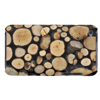 Stack of tree logs barely there iPod covers