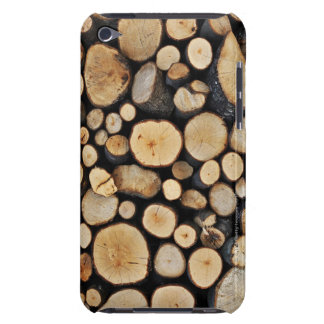 Stack of tree logs iPod touch covers