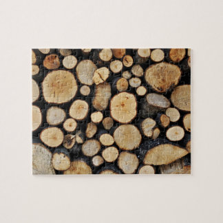 Stack of tree logs jigsaw puzzle