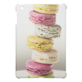 Stack of vibrant macaroons iPad mini covers