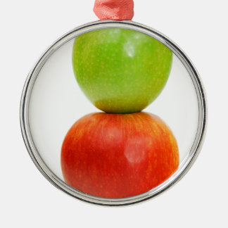 Stacked apples christmas ornament