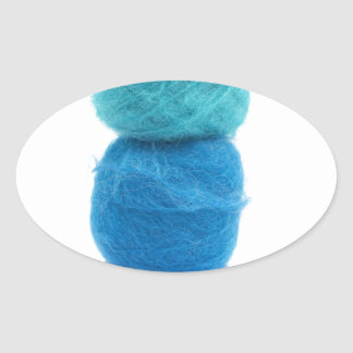 stacked balls of blue yarn stickers