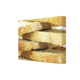 Stacked Bread Wrapped Canvas