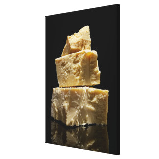 Stacked Chunks of Parmasean Cheese Canvas Print