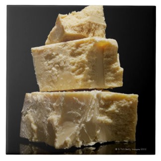 Stacked Chunks of Parmasean Cheese Tile