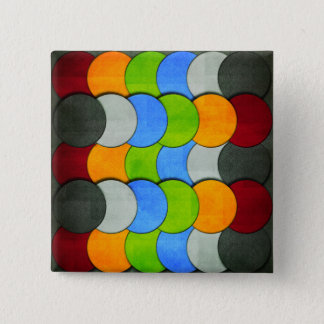 Stacked Circles-Textured by Shirley Taylor 15 Cm Square Badge
