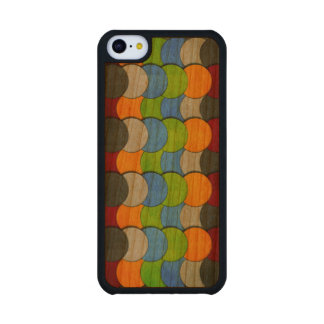 Stacked Circles-Textured Carved® Cherry iPhone 5C Slim Case