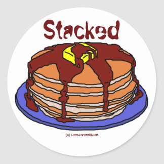 Stacked Classic Round Sticker