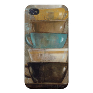 Stacked Coffee Cups Case For iPhone 4