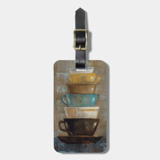 Stacked Coffee Cups Luggage Tag