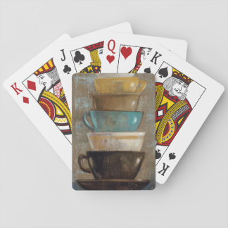 Stacked Coffee Cups Poker Deck