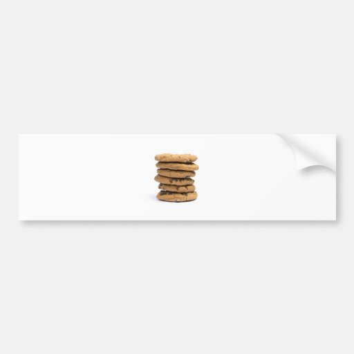 stacked delicious chocolate chip cookies bumper sticker