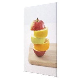 Stacked Fruit Slices Canvas Print