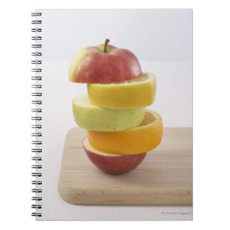 Stacked Fruit Slices Spiral Notebook