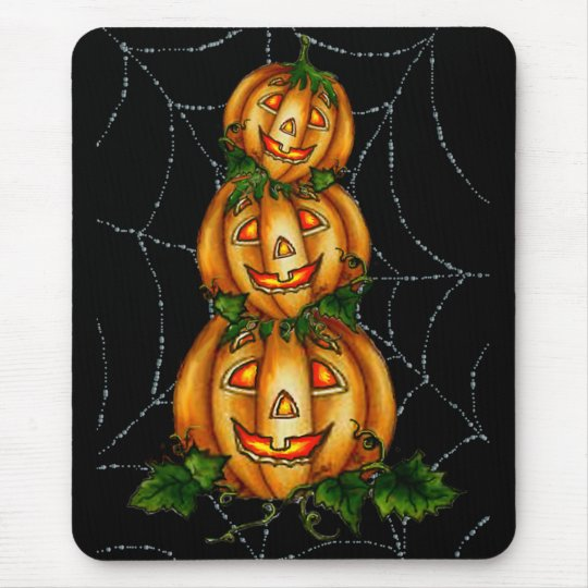 STACKED JACKS & WEB by SHARON SHARPE Mouse Mat