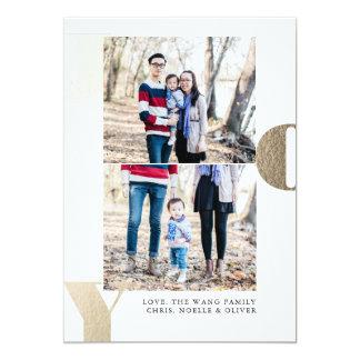 Stacked Joy Holiday Card